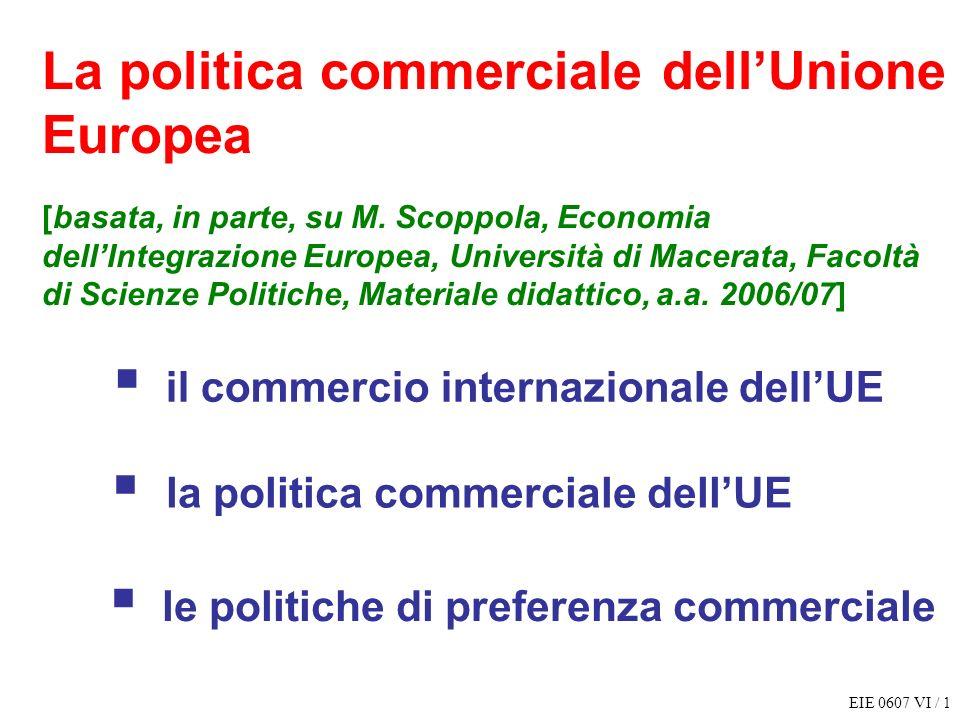 La politica commerciale dell'Unione Europea [basata, in parte, su M